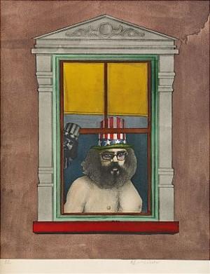 Allen Ginsburg by Richard LINDNER