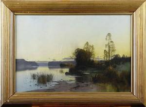 Insjölandskap Med Stuga by Carl BRANDT