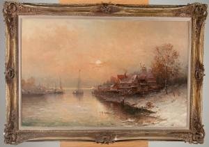 Flodlandskap by Karl KAUFMANN