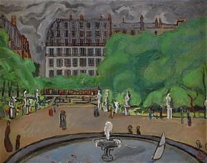 Från Tuilerieträdgården - Paris by Otte 'Otte S.' SKÖLD