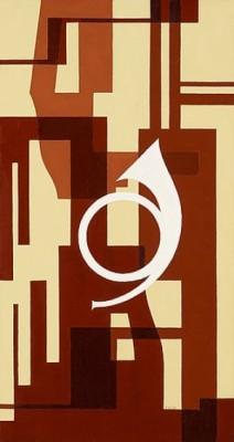 Fuga I Brunt - Projekt Till Väggmålning För Musikrum by Otto G. CARLSUND