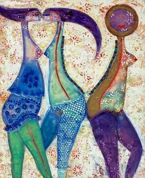 Motiv Med Tre Kvinnor by Max Walter 'Max Walters' SVANBERG