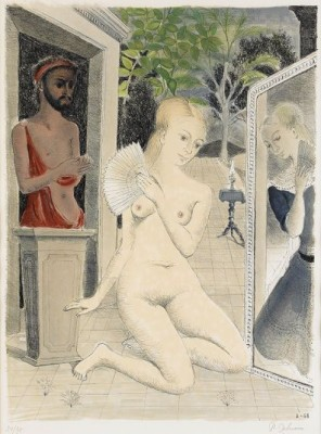 L éventail, (lit: Jacob 21) by Paul DELVAUX