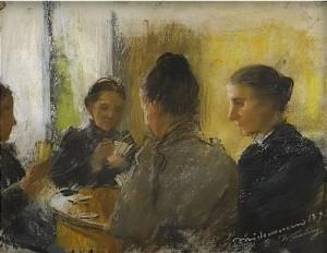 Kortspelande Kvinnor by Elisabeth WARLING