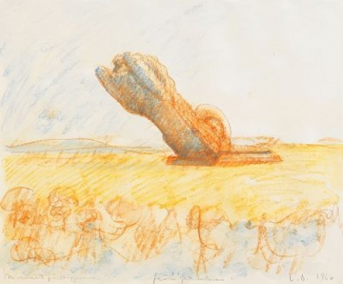 Proposed Colossal Monument For The Entrance To Stockholm Harbour: Pivoting Lion by Claes OLDENBURG
