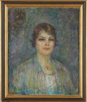 Porträtt Av Lisa Stenrot by Wilhelmina 'Mina' CARLSON-BREDBERG