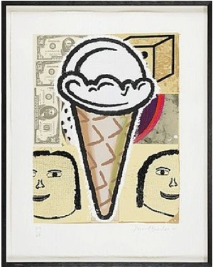 Ice Cream Cone by Donald BAECHLER