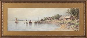 Insjölandskap by Herman MÜLLER
