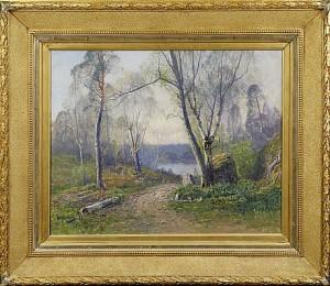 Skogsmotiv by Johan 'John' KINDBORG