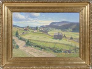 Motiv Av Fjällgård by Carl JOHANSSON