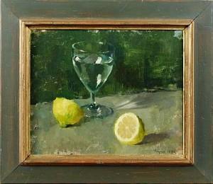 Stilleben - Vattenglas Och Citron by Ryno FRIEBERG
