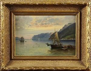 Kustbild Med Segelbåt by Josefina HOLMLUND
