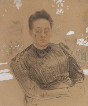 Portrait Of Yelena Neratova by Ilya Efimovich REPIN