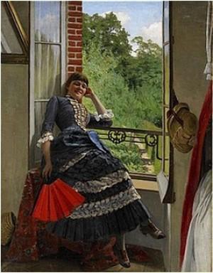 Kvinna Med Solfjäder by Edvard ROSENBERG