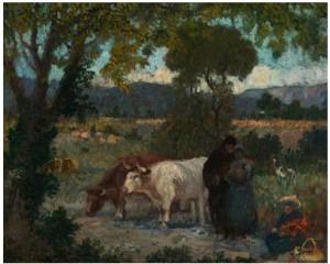 Fransk Sommerlandskap by Eugène Henri Alexandre CHIGOT