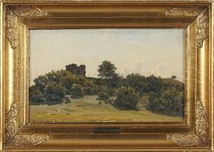 Landskap Med Ruin by Viggo JOHANSEN