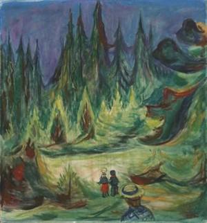 Der Märchenwald by Edvard MUNCH