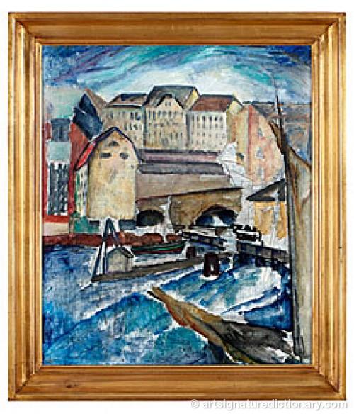 Motiv Från Slussen by Ewald DAHLSKOG