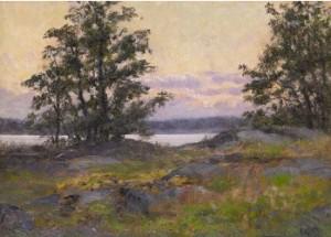 Solnedgång - Motiv Från Engarn, Resarö by Ida GISIKO SPÄRCK