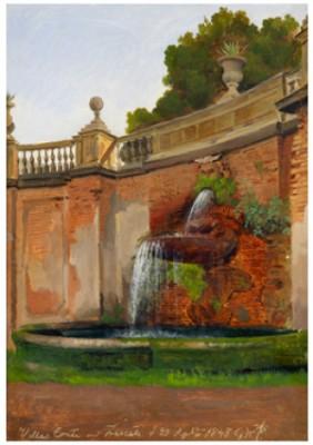 Villa Conti Vid Frascati by Gustaf Wilhelm PALM