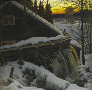 Vintermotiv Från Rämen - Värmland by Anshelm SCHULTZBERG
