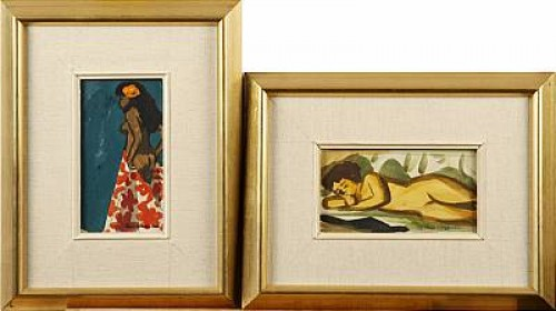 (2) Kvinnofigurer by Lars NORRMAN