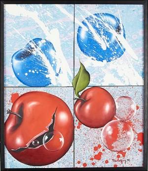Komposition Med äpplen by Thomas HAFSTRÖM