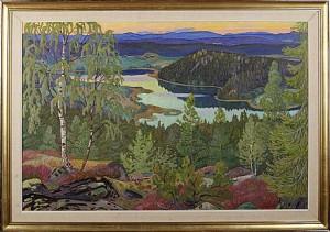 Sensommarafton Vid Bondsjön, Säbrå by Ivan BERGDAHL