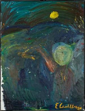 Gul Måne by Erland CULLBERG