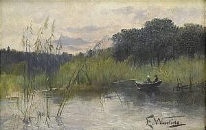 Sommarkväll Med Roende Kvinnor I Eka by Elisabeth WARLING