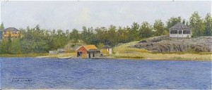 Grisslehamn by Karl 'Xylografen' ANDERSSON