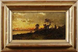 Landskap, Solnedgång by Severin NILSON
