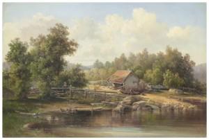 Insjölandskap by Josefina HOLMLUND