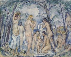 Badande Kvinnor by Arthur PERCY