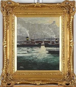 Motiv Från Stadsgården Med Båtar by John 'J.malm' MALM