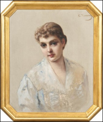 A Girl by Konstantin Egorovich MAKOVSKY