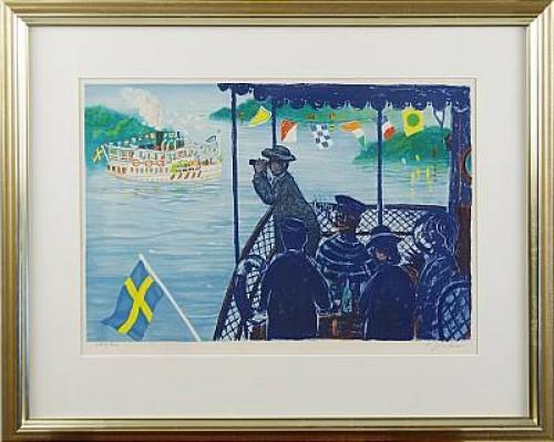 Skärgårdsbåt by Lennart JIRLOW