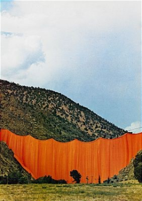 Valley Curtain, Rifle, Colorado by Christo JAVACHEFF