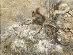 Ekorre I Vinterlandskap by Mosse STOOPENDAAL