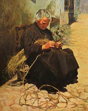 Arbetande Kvinna by José ORTEGA