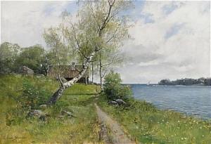 Skärgårdslandskap by Konrad SIMONSSON
