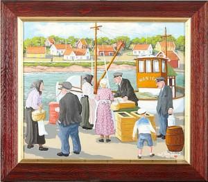 Fiskförsäljning På Bryggan by Bert Håge HÄVERÖ
