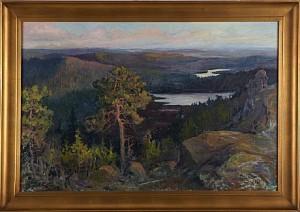 Lanskapsvy by Nils OLSSON