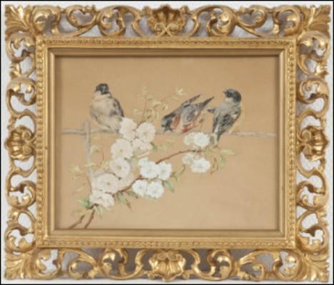 Småfåglar På Gren by Maria WIIK