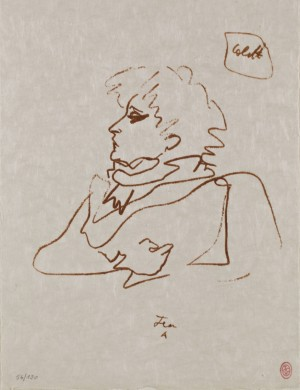 Portrait De Colette by Jean COCTEAU
