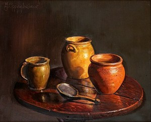 Still Life With Jars by Johnny OPPENHEIMER
