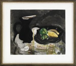 Pichet Noir Et Citrons by Georges BRAQUE