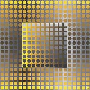 Planetary Folklore Participations No 2 - Yellow-grey by Victor VASARELY