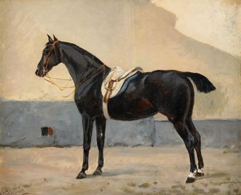 Hästporträtt by John ARSENIUS