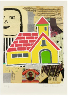 Yellow House, From The Serie My Subjects by Donald BAECHLER